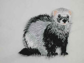 Dark Silver Ferret Iron On Applique Patch