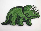 Triceratops Dinosaur Embroidered Iron On Patch 3.25 In