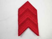 Red Military Chevron Badge Embroidered Sew On Patch