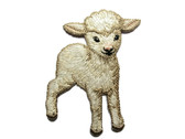 Sweet White Lamb Sheep Embroidered Iron On Applique Patch