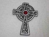 Black Red Christian Cross Iron On Applique Patch