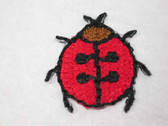 2 Ladybug Embroidered Iron On Applique Patch .75 In