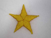 Sunny Yellow Star Iron On Patch .75 In