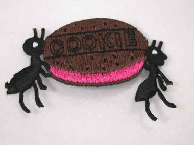 Ants with Cookie Iron On Applique Patch