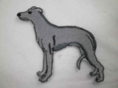 Greyhound Dog Standing Pose Iron On Patch 3 Inch