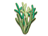 Seaweed w Metallic Iron On Embroidered Patch 2.25 In