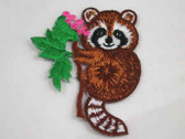 Raccoon in Tree Embroidered Iron On Patch Applique