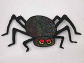 Spider Glittery Halloween Iron On Patch 2.75 Inch