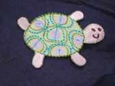 Turtle Comical w Sequins Embroidered Iron On Patch
