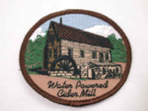 Water Powered Cider Mill Embroidered Sew On Patch