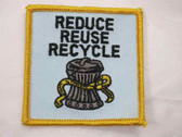 Reduce Reuse Recycle Embroidered Sew On Patch