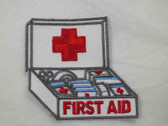 First Aid Emergency Doctor Nurse Health Kit Embroidered Iron On Patch