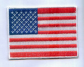 US American Flag Embroidered Iron On Patch 3.25