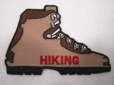 Hiking Boot Embroidered Iron On Patch