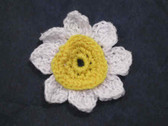 Daisy Crocheted Cotton Sew On Patch Applique
