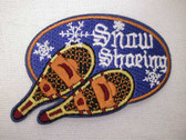 Snowshoeing Pair Snowshoes Embroidered Iron On Patch