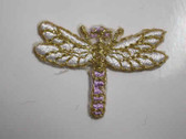 White Dragonfly Embroidered Stick On Patch