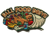 "2.5"" Food Drive Cornucopia Horn of Plenty Embroidered Iron On Patch"