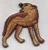 Howling Coyote Embroidered Iron On Patch 1.88 Inches Tall