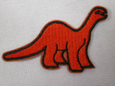 2.5 Inch Orange Dinosaur Child Cartoon Iron On Patch