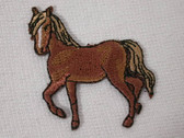 Prancing Horse Embroidered Iron On Patch Left 1.38