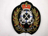 Royal Navy Crown Anchor Heraldic Crest Iron On Patch