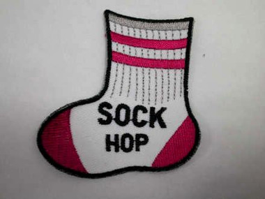 Pop Rock Sock Hop Iron On Patch B Version