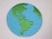 Blue Green Earth Globe Ecology Iron On Patch Applique