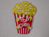 Popcorn Movie Box Embroidered Iron On Patch 2 Inch