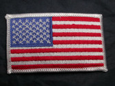 US American Flag Embroidered Iron On Patch 3.38 In