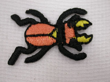 Bronze Beetle Bug Embroidered Iron On Patch 1 In