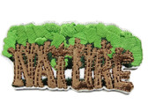 Trees Nature Forest Embroidered Iron On Patch Applique 2 5/8 Inch