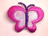 Pink Purple Lustrous Butterfly Iron On Patch 1.13