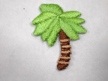 Palm Tree Embroidered Iron On Patch Applique Patch 1 In