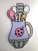 Kitchen Cooking Utensils Embroidered Iron On Patch