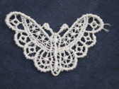 Ivory Butterfly Sew On Venise Lace Applique 1.75 Inch