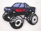Monster Truck Blue Red Child Iron On Patch 1 In