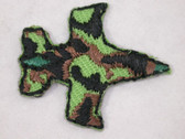 Camouflage Plane Infants Military Iron On Patch 1 In