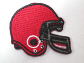 Red Football Helmet Embroidered Iron On Patch
