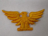 Golden Yellow Spread Eagle Phoenix Embroidered Sew On Applique Patch