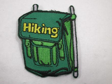 Backpack Hiking Camping Iron On Patch Green