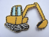 Backhoe Excavator Construction Iron On Patch 1.25 Inch