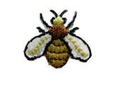 Open Wing Bumble Bee Iron On Patch Applique .75 In
