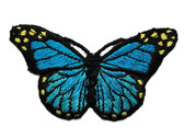 Blue Shades Natural Butterfly Iron On Patch 3 In