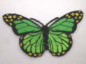 Green Shades Natural Butterfly Iron On Patch 3 In