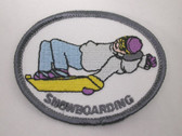 Snowboarding Rider Embroidered Sew On Patch Applique