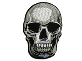 Skull Goth Pirate Embroidered Iron On Patch Applique 3.5 Inch