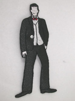 Groom Gent Iron On Embroidered Applique Patch