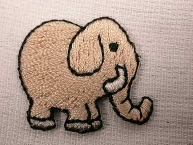 Infant Elephant Embroidered Iron On Patch Applique
