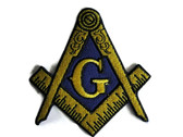 Mason Masonic Emblem Embroidered Iron On Patch Applique 3.25 Inch